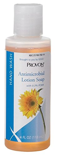 GOJO 4301-48 PROVON Antimicrobial Lotion Soap with 0.3% PCMX, Pump Bottle, 4 fl. oz. (Pack of 48)