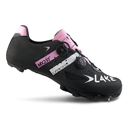 Lake MX237 SuperCross Radschuh - Herren SuperCross Schwarz / Rosa