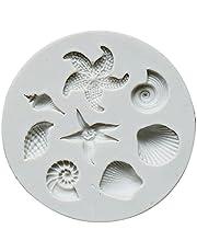 HANBOLI DIY Fondant Silicone Material Mold Clay Soft Pottery DIY Marine Series Modeling Mold Starfish Conch Seashell Shape Molds