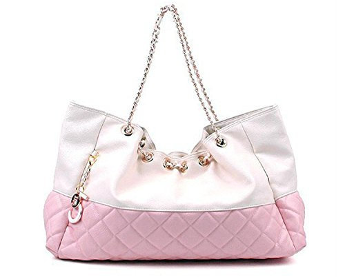 Tote Pink Fabric Handbags - 3