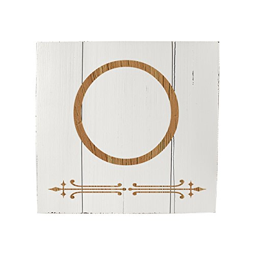 Cathys Concepts Decoration Table (Cathy's Concepts Personalized Rustic Wooden Wall Art, White, Letter O)