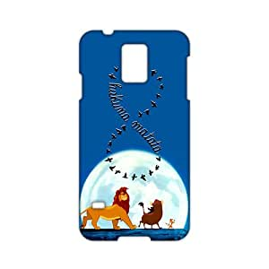 Angl 3D Case Cover Cartoon Lion King Hakuna Matata Phone Case for Samsung Galaxy s 5