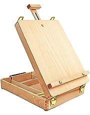 Tabletop Easel Art Easel Desktop Easel for Painting, Premium Wooden Sketchbox Easel, Desktop Painting Easel for Student Artist Beginner