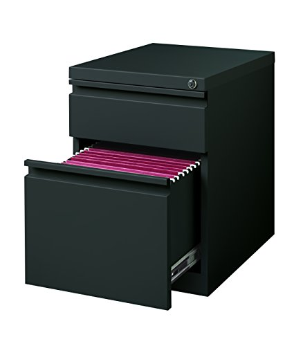 Hirsh Industries 2 Drawer Mobile File Cabinet in Charcoal