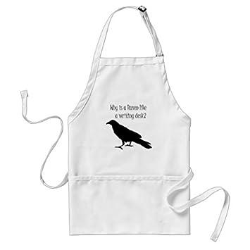 Cute Raven delantal patrones para las niñas niños cocina de restaurante Chef cocinar barbacoa delantales Ajustable