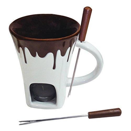 Swissmar F12064 4-Piece Nostalgia Chocolate Fondue Mug (Chocolate Mug)
