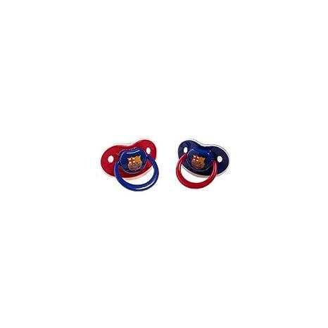 Productos Oficiales - 2 chupetes con protector fcbarcelona