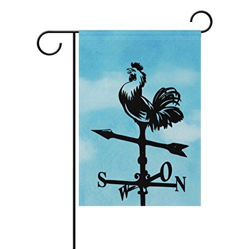 LEISISI Weather Vane Rooster Garden flag 12