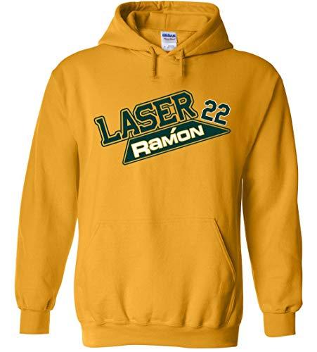 Gold Oakland Laureano Laser Ramon Hooded Sweatshirt Youth