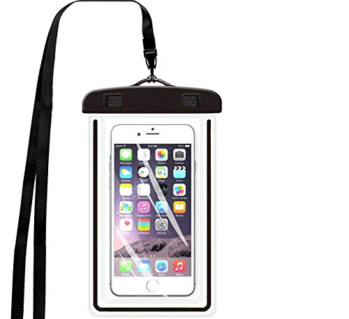 iBarbe [5 Pack Universal Waterproof Case, IPX8 Waterproof Phone Pouch Dry Bag for iPhone, Samsung,Google Pixel, HTC, LG, Huawei for Devices up to 5.7