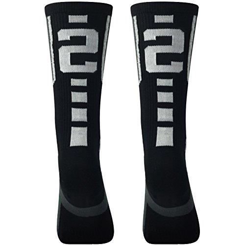 Teens Soccer Socks, Comifun Boys Girls Cotton Knit Knee Long Team Socks...
