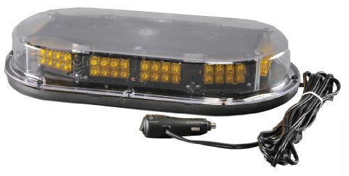 North American Signal MMBSLEDFLM-C/A LED Mini Light Bar with Magnetic Mount, 12/24V, 1.4A Current, Amber by North American Signal