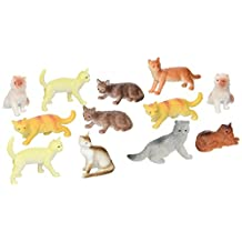 US Toy Dozen Plastic Cat Figures, 2