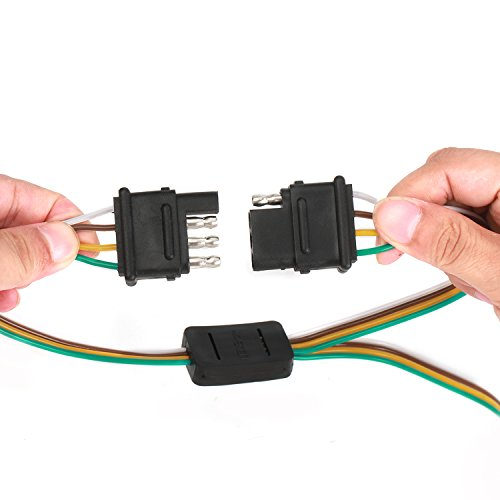 Fontic 2-Way Y-Splitter Adapter Flat 4 Pin Connector Trailer ... on 4 pin spark plugs, 4 pin power supply, 4 pin ignition module, 4 pin light bulbs,