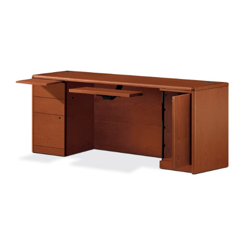 HON 107497JJ 10700 Series 72 by 24 by 29-1/2-Inch Computer Credenza, Henna Cherry Frame/Top