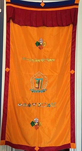 Tibetan Mani Kalachakra Door Curtain product image