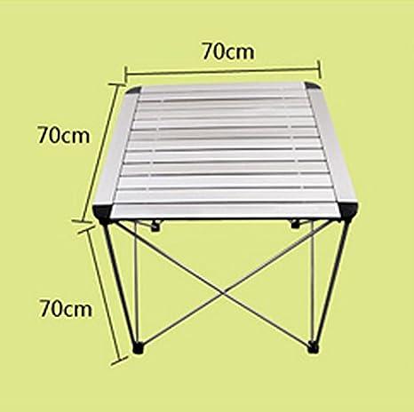 QAWSED Mesa y sillas Plegables for Exteriores Mesa de Picnic ...
