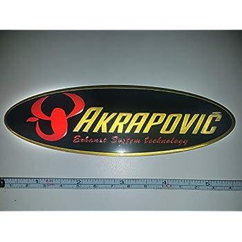 Amazon.com: Akrapovic - Adhesivo de metal ovalado para tubo ...