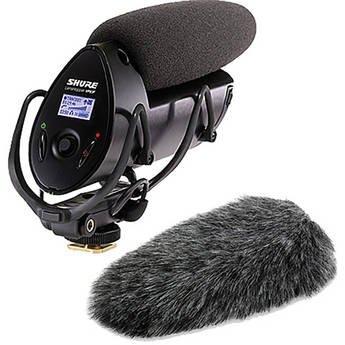 Shotgun Mic Shure (Shure VP83F LensHopper with Integrated Recording and Fur Windmuff Kit)