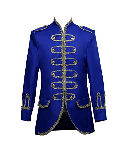 (ROLECOS Mens Royal 18s Tuxedo Dress Suit Prince Theater Costume Blazer Pants Blue M)