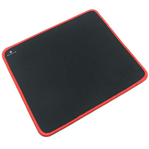 "Reflex Lab Mouse Pad/Mat, (Red) Stitched Edges, Waterproof, Ultra Thick 3mm, Silky Smooth - 9""x8"" Mousepad"