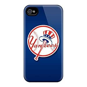 Elaney Fashion Protective New York Yankees Case For Iphone 4/4S Cover