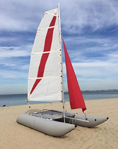 Inflatable 1.2mm PVC 15ft. 4 Person Portable Sailboat Windsurfing Catamaran New