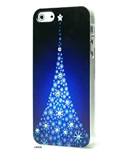 Basicase Cool Christmas Tree Painting with Rhinestones Skin Cover Case for iPhone 5 U480A with Special Free Gift by Bydico