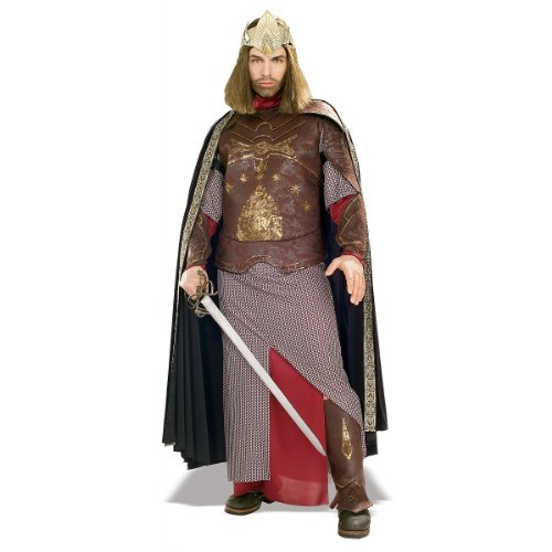 Rubie's Men's The Lord Of The Rings Deluxe Aragorn King Gondor Costume, As Shown, Standard -