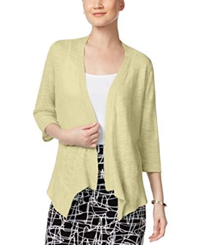 Alfani Sweater - Alfani Petite Open-Front Cardigan (Yellow Daffodil, PS)