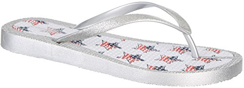 Capelli New York Star Flags Print Flexy Fusion Body Dames Flip Flops Witte Combo