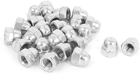 DealMux 5//16-18 a/ço inoxid/ável Dome Cap Chefe Acorn Nuts Hex 25pcs