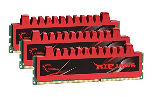 G.SKILL 12GB (3 x 4 GB) Ripjaw Series DDR3 PC3-12800 1600MHz (9-9-9-24) Triple Channel Kit Desktop Memory Model F3-12800CL9T-12GBRL