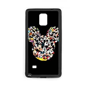 Samsung Galaxy Note 4 Cell Phone Case Black Mickey Mouse jirn