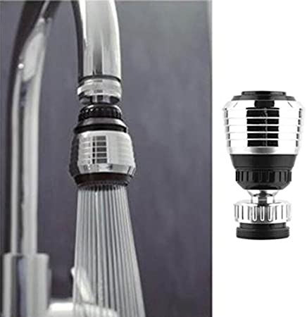 Best4UrLife Faucet Aerator,360 Rotate Swivel Water Saving Tap Aerator Diffuser Faucet Nozzle Filter Adapter,Faucet Sprayer Attachment,Movable Kitchen Faucet Head As Show