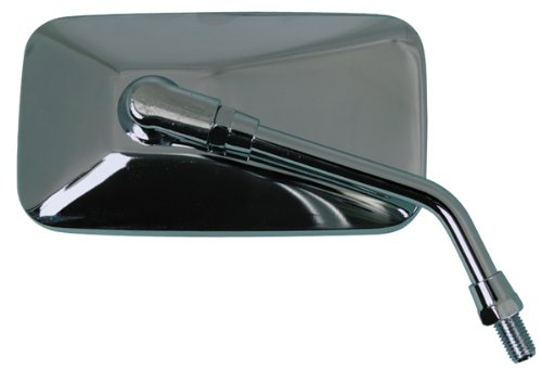 Emgo 20-42444 Chrome Finish Left/Right Replacement Mirror for Metric Cruiser ()