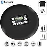 HOTT Portable Bluetooth CD Player with LED Display/Headphone Jack Anti-Skip Protection Anti-Shock Personal