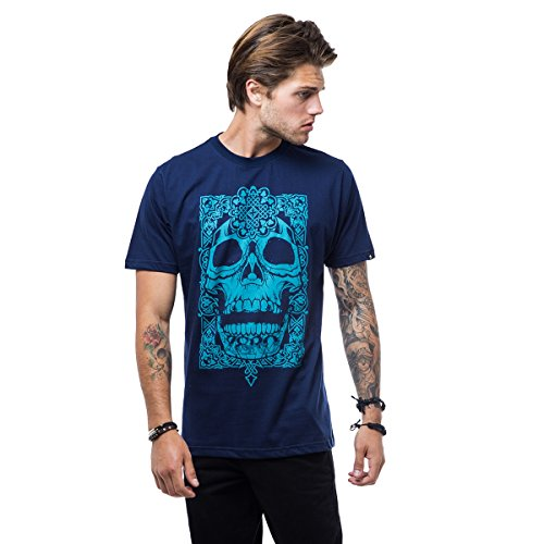 Camiseta Zero Aztec Skull - Azul Marinho - M