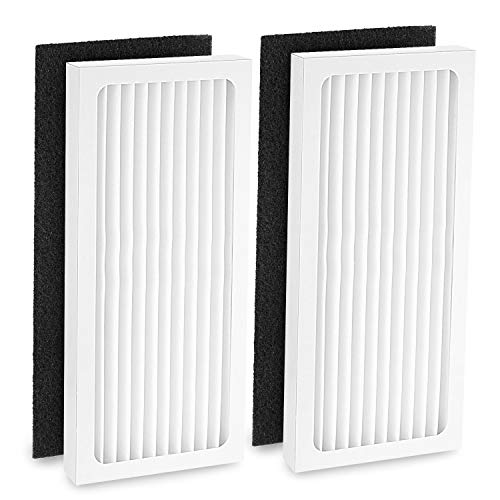 Cabiclean 2 HEPA with 2 Carbon Filter Compatible with Hamilton Beach 04383 Air Purifier 04384 04385 HEPA Filter Replacement, Part # 990051000