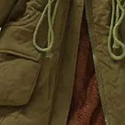 Forti Trapuntato Huixin Con Giacca Costume Casual Cerniera Donna Cappotti Giacche Autunno Coulisse Cappotto Invernali Chiusura Olivgrün Trapuntata Incappucciato A Sciolto Taglie rYrq7Ux
