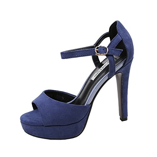 SHOESHAOGE Ranurado Con Tacones Altos Zapatos De Mujer Impermeable Taiwán Boca De Pescado Bien Con Sandalias Femeninas ,Eu40 EU40