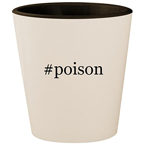 #poison - Hashtag White Outer & Black Inner Ceramic 1.5oz Shot Glass