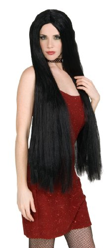 long black fancy dress wigs - 2