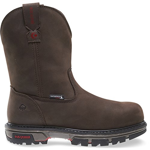 Wolverine Men's Nation Waterproof Comp Toe Pull-On-M Work Boot, Dark Brown, 13 XW US