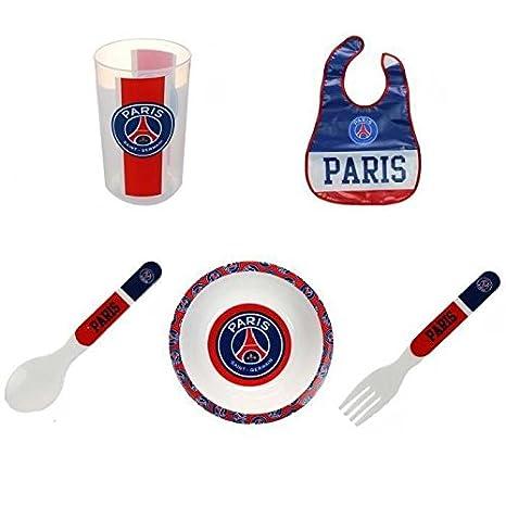 Coffret Repas pour Enfant Bébé - PSG Paris Saint Germain Officiel - 5  pièces - P11719 f95ccb2019d
