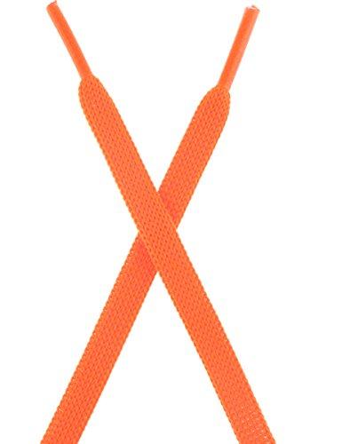 Mshega 24-40 Lacets Plats Haut De Gamme Pour Chaussures De Tennis 2 Paires Orange