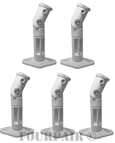 White - 5 Pack Lot - Universal Wall or Ceiling Speaker Mounts Brackets fits BOSE