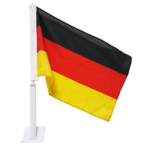 (12x18 Double Sided German Germany Deutschland Car Bike Flag Vivid Color and UV Fade Resistant Canvas Header and polyester material)