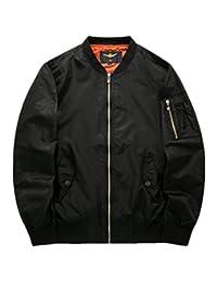 Venxic Men's Army Style Zip Baseball Bomber Jacket for Spring Autumn