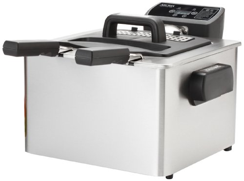 Aroma ADF-232 Smart Fry XL 4-Quart Digital Dual-Basket Deep Fryer image